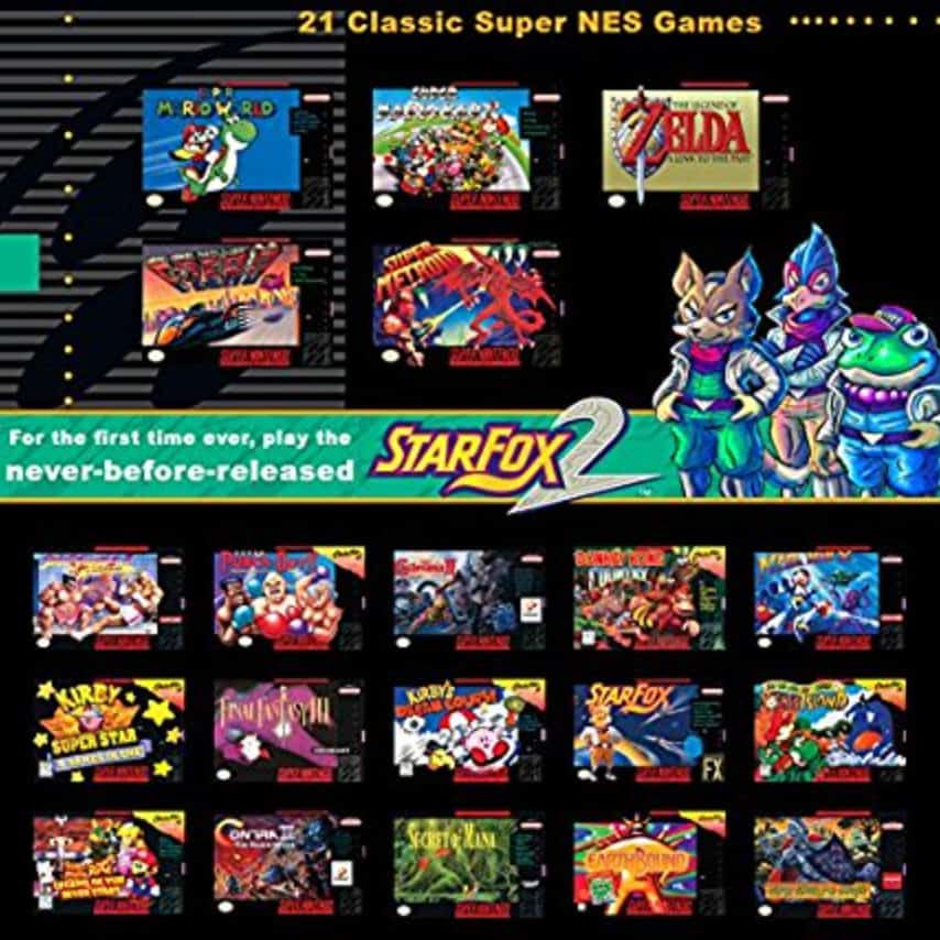 a picture of the 21 games for the ones classic
