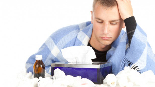 a picture of a guy with a cold