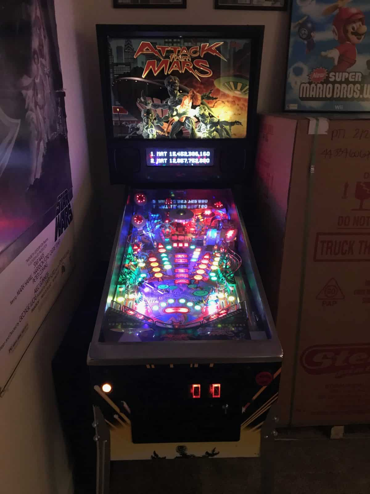 a picture of attack from mars pinball