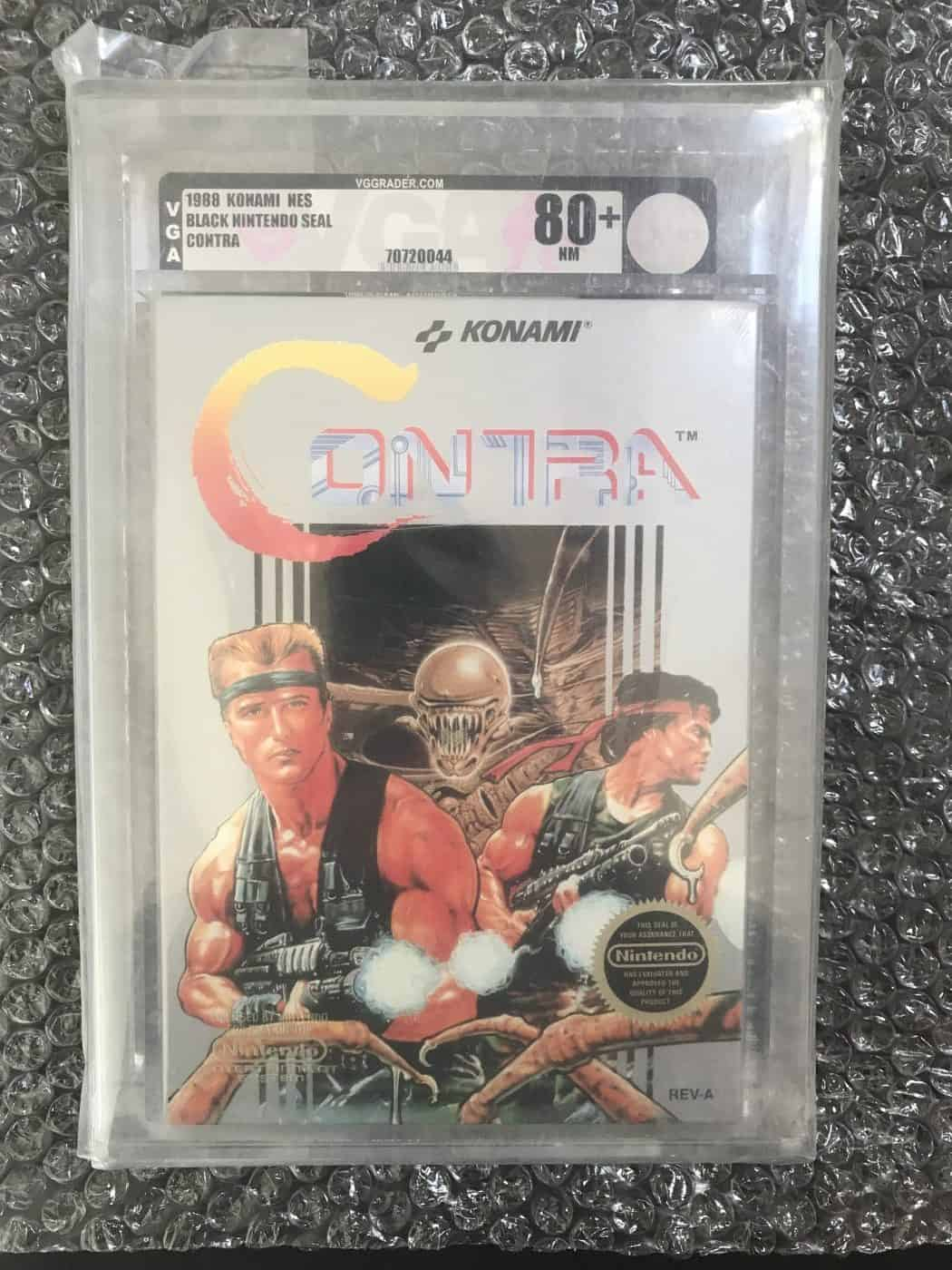 a picture of a vga graded contra