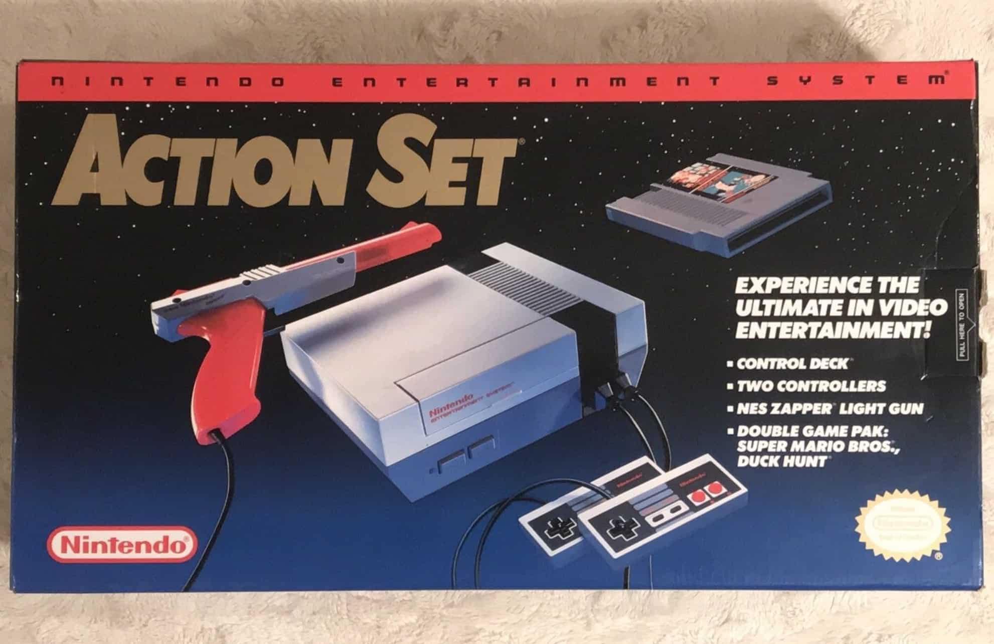 a picture of a 1992 NES action set