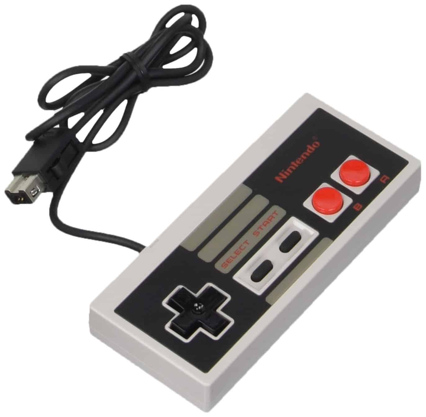 a picture of a nes classic controller