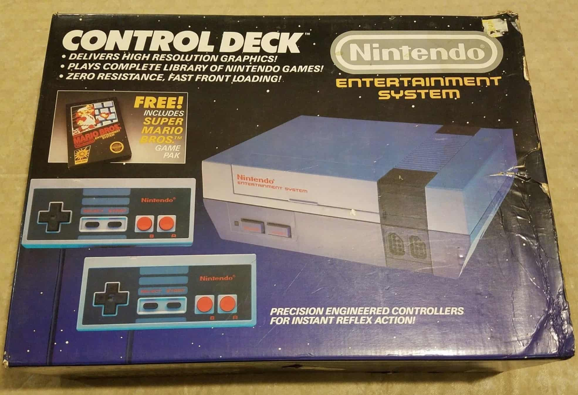 a picture of an original NES Control Deck