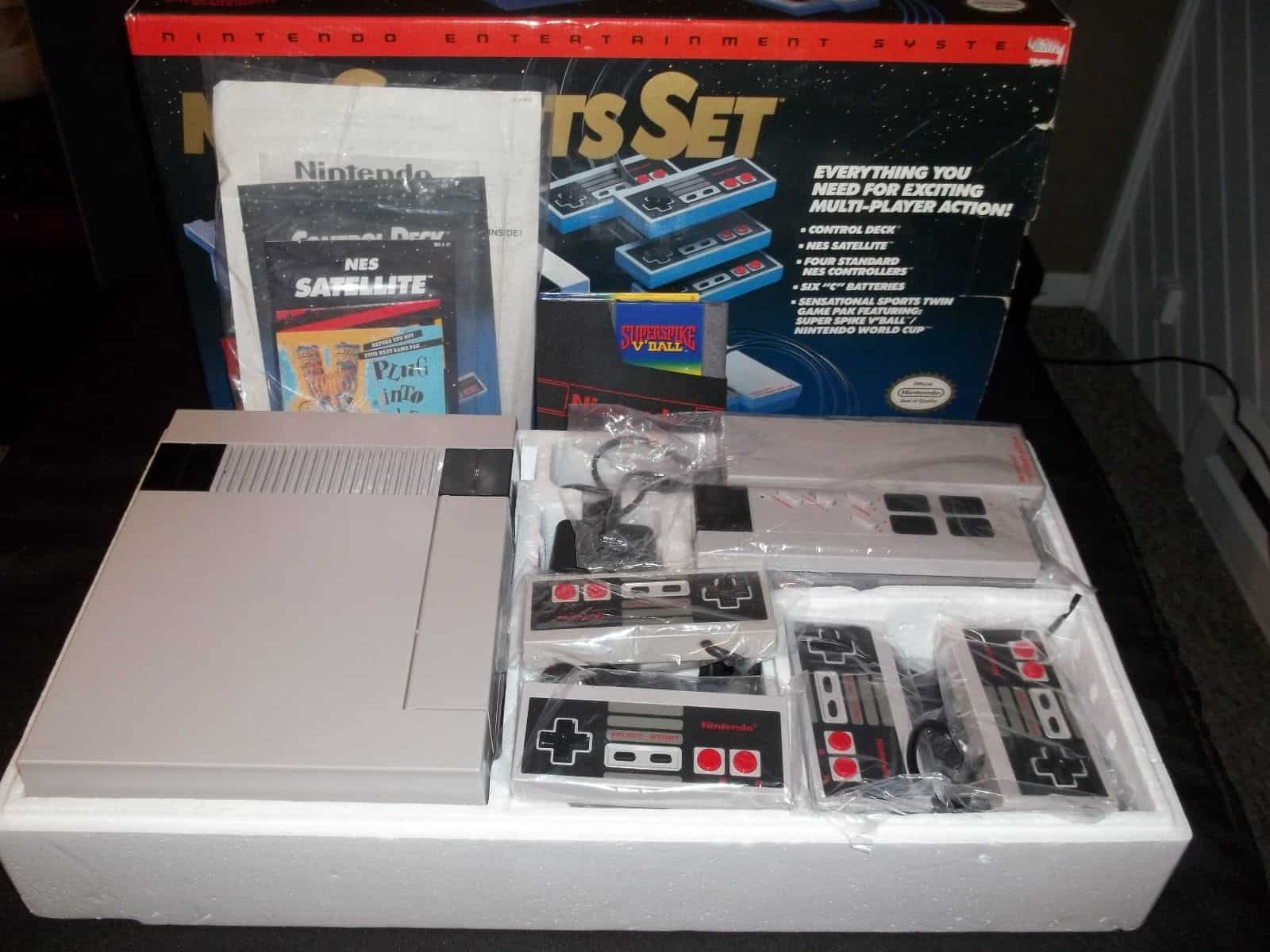 a picture of a NES sports set insides