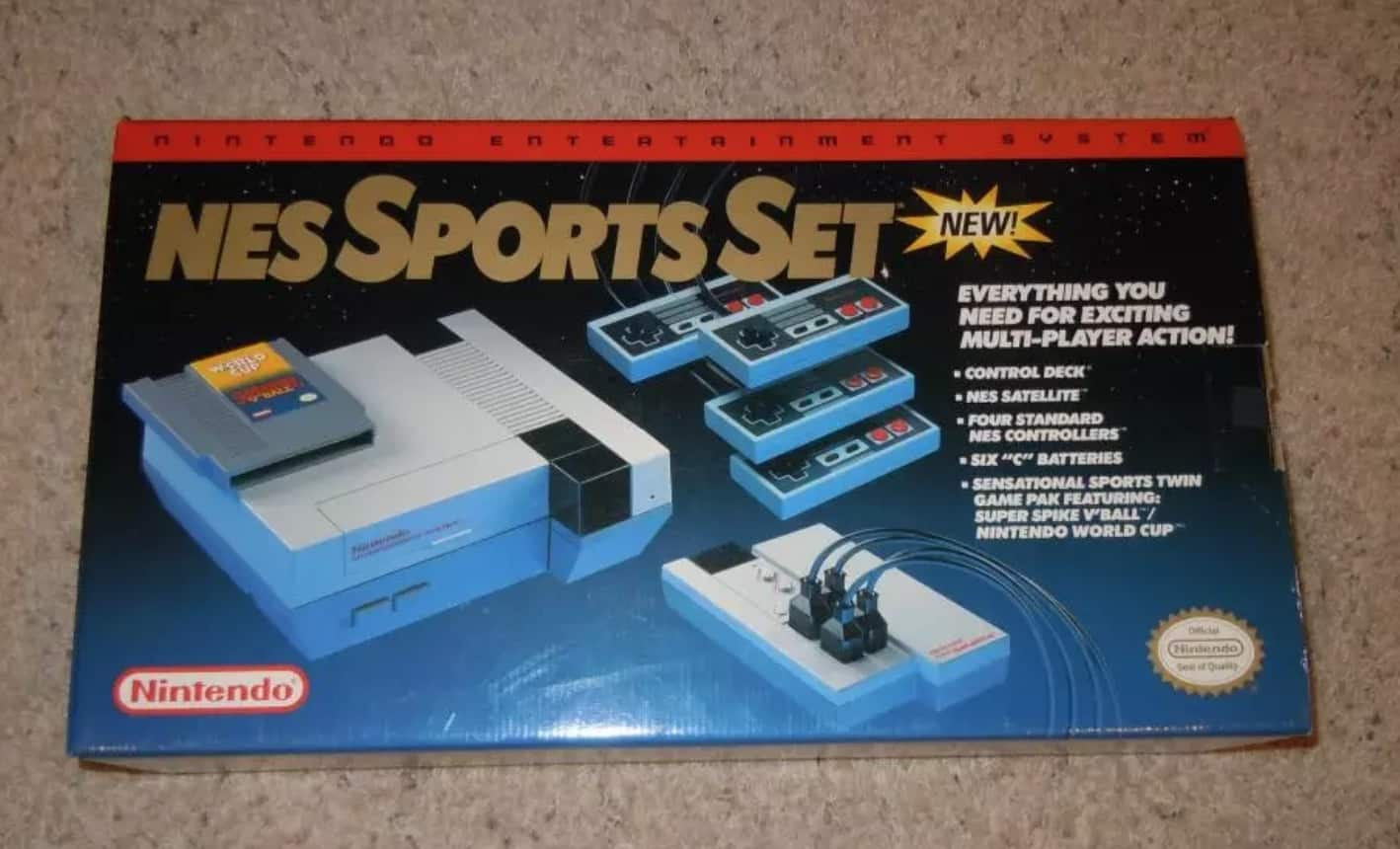 a picture of a nes sports set