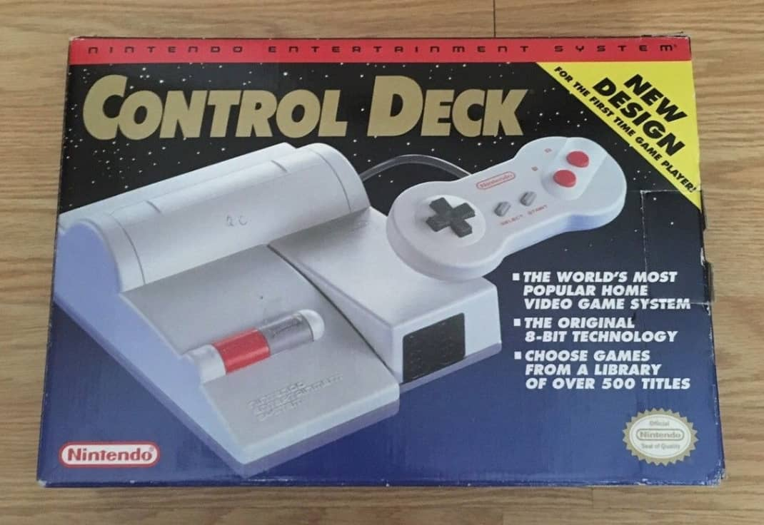 a picture of a NES Top loader control deck