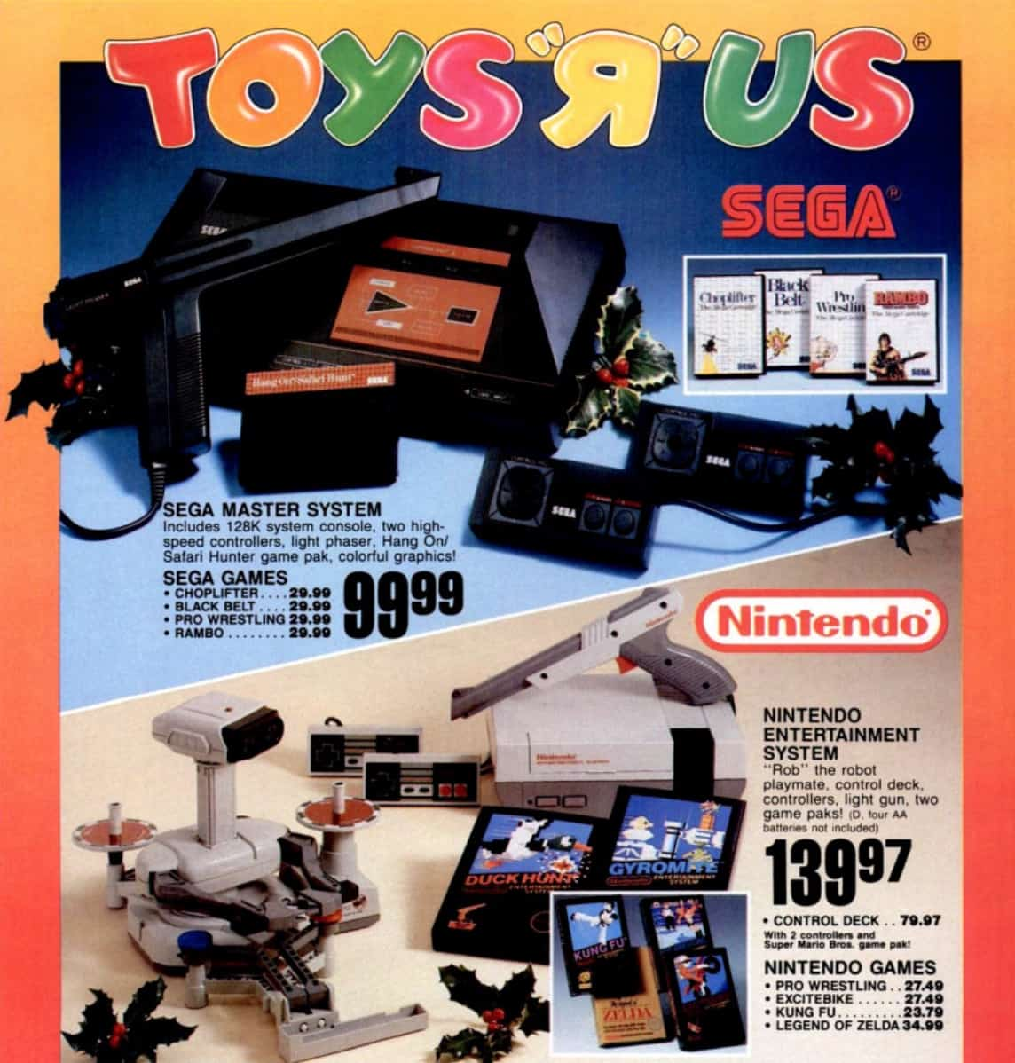 a picture of a Toys R US NES Delux SET catolog