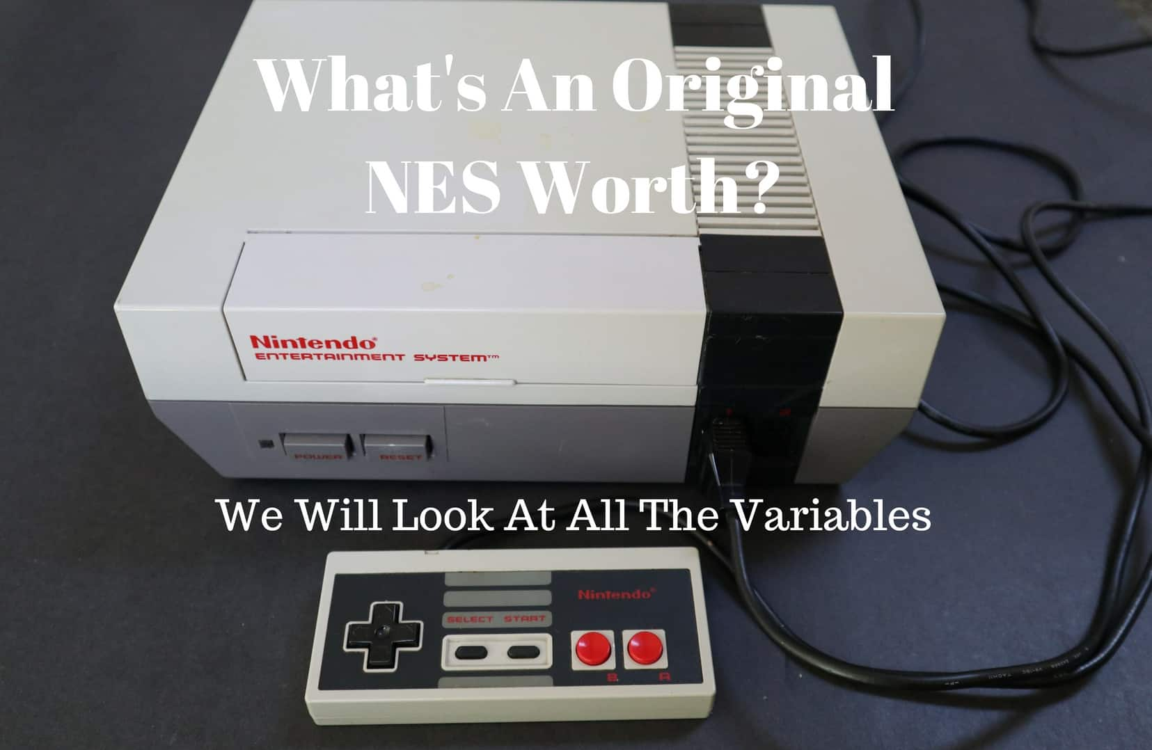 a picture of what an original nes is worth today