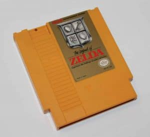 a picture of the legend of zelda test cartridge
