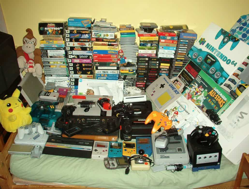a picture of a video game collection