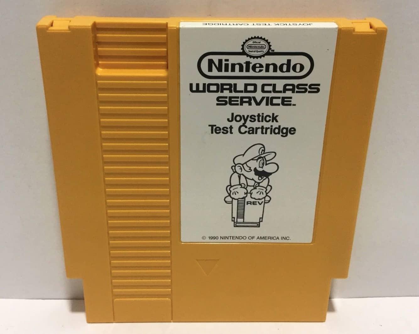 a picture of a NES joystick test cartridge