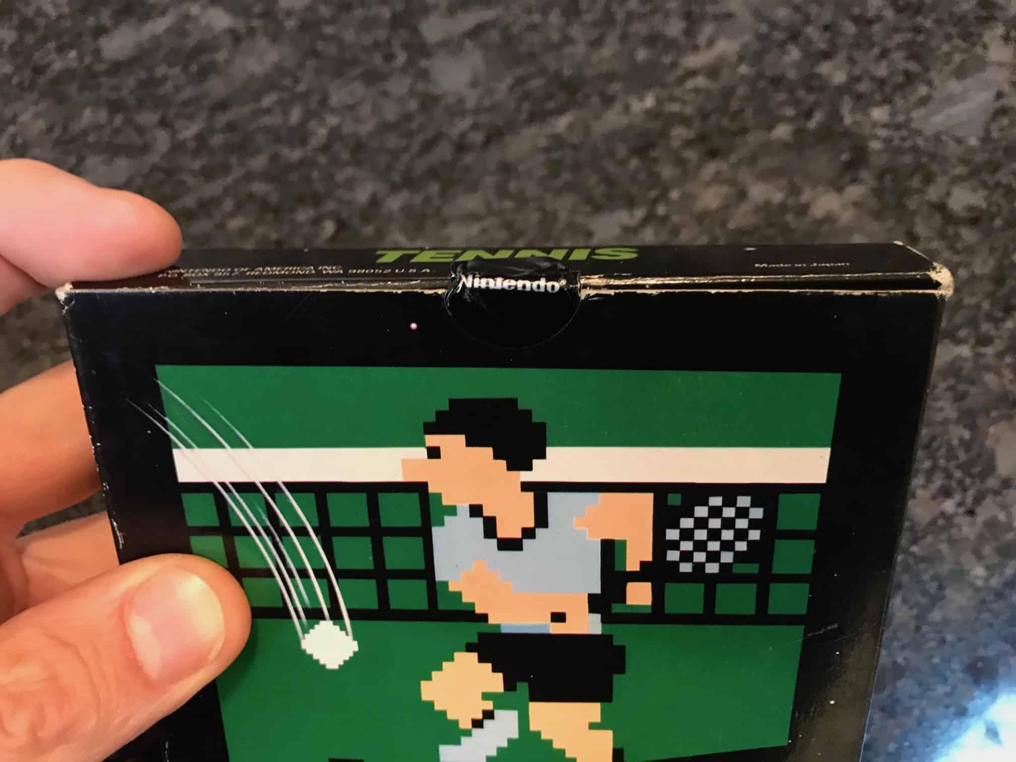 Nintendo gloss Sticker Seal black box game Tennis
