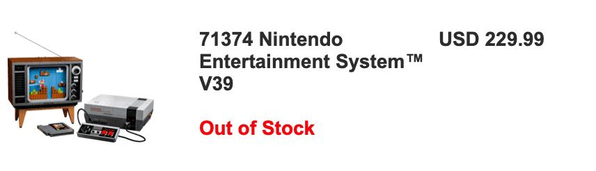 NES LEGO Price