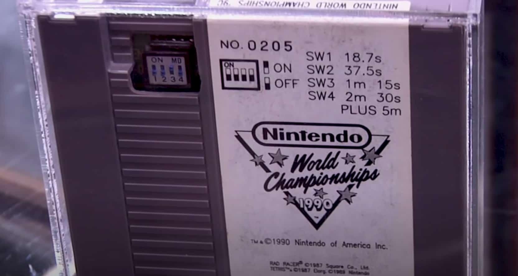 Nintendo World Championship Grey Cartridge Switches